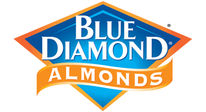 logo blue diamond almonds
